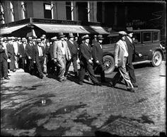 Al Capone trial jury members going to lunch, 1931. — Chicago Tribune historical photo, May 10, 2013