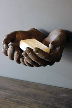 These bronze effect Giving Hands are a quirky way to store your keys jewellery or use as a soap dish They are easily attached to the wall using