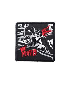 "Misfits - Bullet Patch.  Embroidered and can be ironed or sewn on jackets, jeans, shirts, bag etc.  Size: H 8cm (3"") x W 8cm (3"")  Free Shipping to anywhere in Australia."