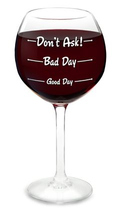 How was your day? Don't ask wine glass! #product_design