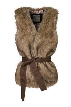 HONCHAN Fashion Faux Fur Vest for Women's Winter Outwear