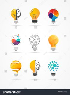 Find Light Bulb Idea Creative Technology Icons stock images in HD and millions of other royalty-free stock photos, illustrations and vectors in the Shutterstock collection. Creative Icon, Creative Posters, Creative Logo, Logo Desing, Branding Design, Typography Logo, Art Logo, Layout Design, Icon Design