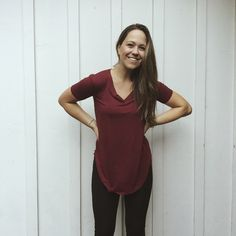 Carly's Favorite T-Shirt Tunic, Burgundy from Carly Jean for $28.00