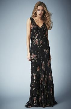 Kate Moss for Topshop Floral Chiffon Maxi Dress available at #Nordstrom