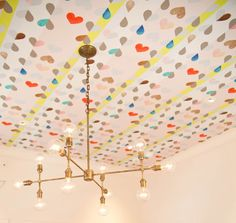 I adore the pattern on this ceiling and especially the light fixture!