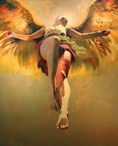 ♥ Dramatically Luminating Golden Angels -  artist Steven Daluz