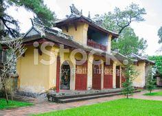 Thien Mu pagoda with Perfume Huong River in Hue, Vietnam royalty-free stock photo