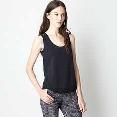 O'2ND Fabric Patched Tank | Womens Tops | Steven Alan