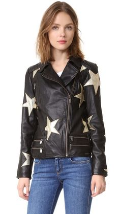 Scotch & Soda/Maison Scotch Stars Leather Jacket