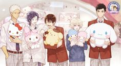 December is all about Danshi this year, are you dreaming about Sanrio Boys? Sanrio Wallpaper, Sanrio Hello Kitty, Little Twin Stars, All Anime, Manga Anime, Anime Stuff, Anime Art, Kawaii Anime, Sanrio Danshi