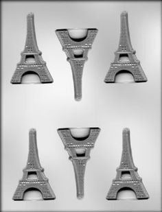 Amazon.com: CK Products 3-Inch Flat Eiffel Tower Chocolate Mold: Kitchen & Dining