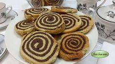 Biscotti bicolori con zenzero e cannella
