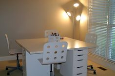 Another look at the IKEA desk in another Homeschool room.