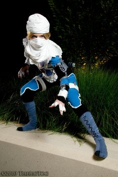 Sheik would be a sweet idea, I would make adjustments to the costume though.