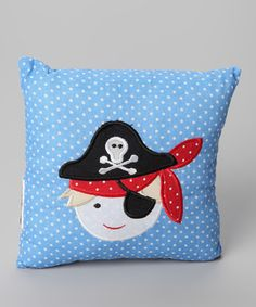 This English-designed pillow is just the thing for aspiring pirates. Featuring plush, quilted construction and high-quality cotton, this cushy accessory is plunder-perfect. Pirate Quilt, Cushion Source, Powell Craft, Pirate Baby, Nautical Quilt, Toddler Girl Dresses, How To Make Pillows, Baby Boy Nurseries, Nursery Themes