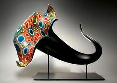 David Patchen - современный американский художник по стеклу и дизайнер (использует итальянские приемы тростника и murrine)