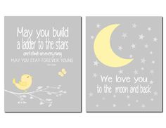 May you build a ladder to the stars - Bob Dylan Nursery Art Kids Wall Art Baby Room Decor by vtdesigns