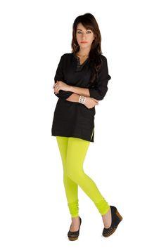 Ladies Leggings Chudidhar Viscose Lycra Lime  #jogger #legging #onlinedeals #womensfashion #printedlegging #indianblogger #fashionlegging #discount #onlinefashion #bloggers