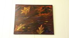 Halloween Abstract Acrylic Painting  Windy by DDistinguishedGifts