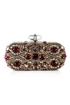 Marchesa Lily Embroidered Clutch and other apparel, accessories and trends. Browse and shop related looks. Marchesa, Beaded Purses, Beaded Bags, Bling Purses, Bling Bling, Fashion Bags, Fashion Accessories, Womens Fashion, India Fashion