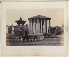 Tempio di Vesta 1863 Perfect Word, Old Photos, Rome, Paris, Antiques, Painting, Travel, Cities, Photos