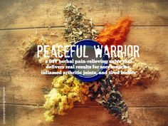 Make your own Peaceful Warrior's Salve! A DIY herbal pain-relieving salve (free from all the toxins of conventional muscle creams) that delivers REAL results for sore muscles, inflamed arthritic joints, and tired bodies.