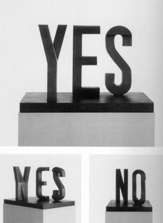 Yes/No by Marcus Raetz