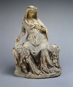 Virgin of the Annunciation, ca. 1300–1310 Paris, France. Limestone, traces of paint