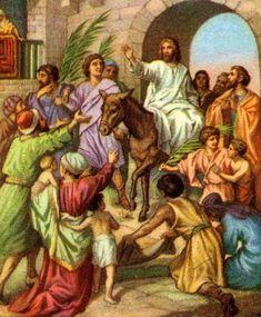 Jesus entering jerusalem on a donkey - Gospel harmony - Wikimedia Commons