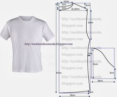 Mens t-shirt pattern Sewing Patterns Free, Clothing Patterns, Free Pattern, Sewing Ideas, Pattern Sewing, Mens Shirt Pattern, Sewing Men, Sewing Blouses, Sewing For Beginners