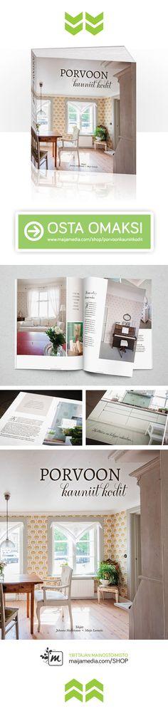 Kirja esittelee 5 kaunista porvoolaista kotia, joiden sisustuksista voi kuka tahansa, hurmaavista interiööreistä nauttiva, poimia ideat ja käytännön vinkit tuomaan ripauksen porvoolaista henkeä ja tunnelmaa myös omaan kotiin – paikkakunnasta ja asuinpaikasta riippumatta. Kun sisustaminen ja maalaisromantiikka ovat lähellä sydäntä, tämä kirja on jokaisen sisustusfanaatikon unelmien täyttymys! http://www.porvoonkauniitkodit.fi/ #uutuuskirja #porvoo #sisustus #romantiikka #interiordesign…