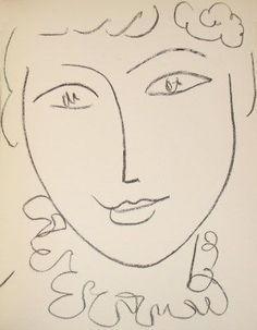 Matisse. simple line drawing. So much expression in so few lines.