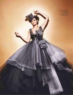 Ines Sastre in Dior Couture
