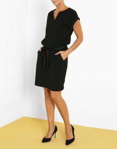 Robe ajustée unie noir Femme - Jacqueline Riu