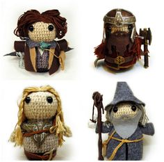 Book character crochet dolls http://bookriot.com/?p=101911