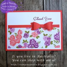 Stampin Dreams Blog Hop Featuring Designer Paper - Sandra Mastello, Violet vs Purple, Stampin' Up Demonstrator Australia