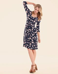 Serena Dress in Navy Floral - perfect for a spring wedding