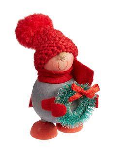Punainen/harmaa Kewin Joulukranssitonttu-joulukoriste | Koti | Stockmann Teddy Bear, Koti, Christmas Ornaments, Holiday Decor, Home Decor, Products, Decoration Home, Room Decor, Christmas Jewelry