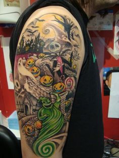 Next project:drawing up my own designs for my Nightmare Before Christmas half sleeve!!
