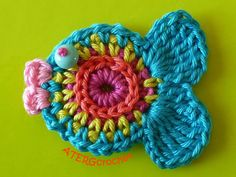 #Crochet this awesome fish coaster. How cute!