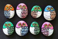 #taşboyama #stonepainting #magnet #owl