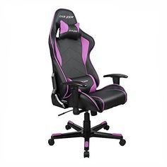 Dxracer Racing Bucket Seat Office Chair Fe08/NP Gaming Chair Ergonomic Computer Chair (Black/Pink)