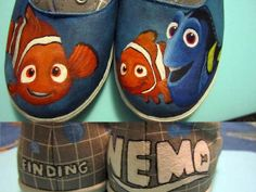 One of a kind hand painted shoes by AnimationCreations on Etsy, $100.00
