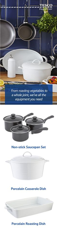 From a classic roasting dish to a set of saucepans, our range of great value kitchen accessories has all you need to become a culinary master. Get set for roast dinner perfection!