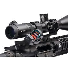 Razor Offset Mount Mount the Razor Red Dot at a 45 degree angle alongside your primary magnified optic for optimal aiming versatility when the situation gets up close and personal. Precision-machined aluminum with hard-coat anodized finish ensures li Tactical Scopes, Tactical Gear, Rifles, Battle Rifle, Airsoft Gear, Cool Guns, Awesome Guns, Tactical Equipment, Shooting Guns