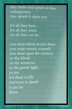 Bukowski. What matters most ...