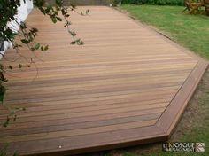 terrasse bois exotique avec ceinture de finition - Le Kiosque Aménagement
