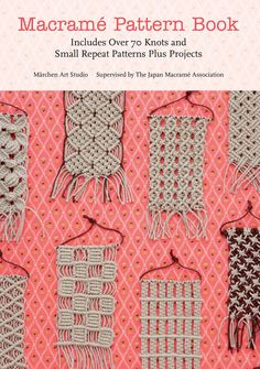 macrame for jewelry as well as beadwork pattern book #macrame #afs Collection