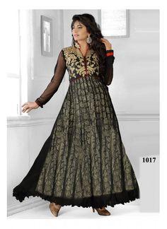 6b205072cc Stylefunia Fancy Black Heavy Designer Gown Type Anarkali Suit Latest Anarkali  Suits