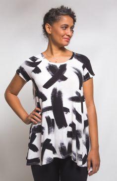 Ebony t-shirt and knit dress pattern 12